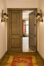 Knotty Alder Interior Door by Interesting Simple Traditional Four Panel Solid Wood Doors