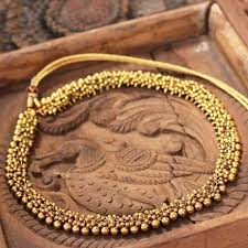 necklace online store images Gold plated silver choker necklace online shopping ornamet jpg
