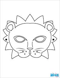 coloring mesmerizing lion masks print animal mask 100
