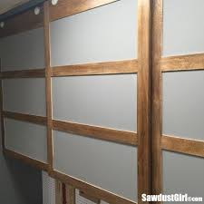 easy diy sliding doors for cabinets sawdust