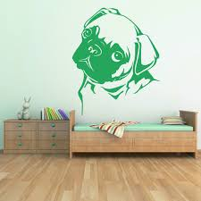 pug wall stickers iconwallstickers co uk