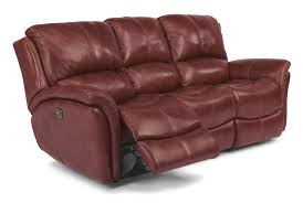 Electric Reclining Leather Sofa Flexsteel Latitudes Dominique 1445 62p Casual Reclining Sofa
