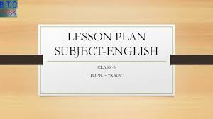 btc lesson plan of english for primary classes youtube