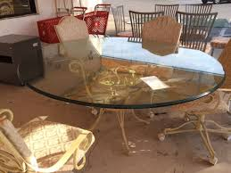 round glass top patio table glass top patio set outdoor goods