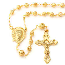gold rosary 14k gold jesus and crucifix cross rosary necklace i hip hop