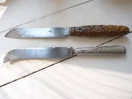 antique kitchen knives bread knife cheese knife two antique kitchen knives silver handled