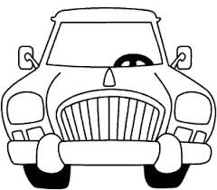 front car cartoon coloring cartoon car car coloring pages
