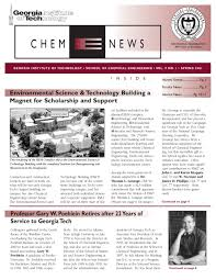 chbe news u2014spring 2001 by of chemical u0026 biomolecular