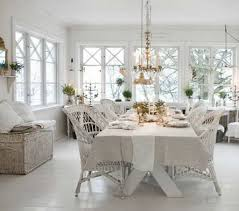 shabby chic dining room with wicker chairs lovely shabby chic