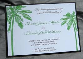 palm tree wedding invitations palm tree wedding invitations the wedding specialiststhe wedding