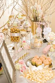 Pink And Gold Dessert Table by All That Glitters Orlando Magazine January 2014 Orlando Fl