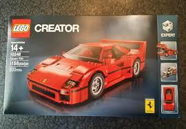 ferrari car 2016 lego 10248 ferrari f40 creator expert 2016 calendar car ebay