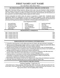 oil and gas resume templates samples u0026 examples resume
