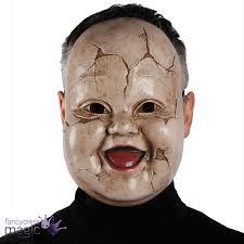 horror masks halloween scary doll face ghost horror mask halloween fancy dress