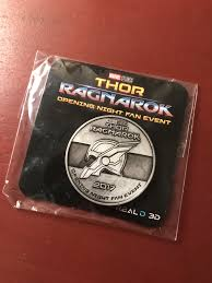 thor ragnarok opening night fan event ragnarok was awesome plus ive got a new lucky coin marvel