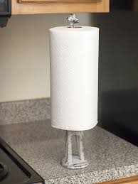 decorative single toilet paper cover amazon com paper towel holder or free standing toilet paper