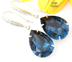 navy blue earrings navy blue earrings mo 31 desirez jewelry