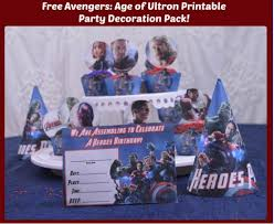 free avengers age of ultron printable party decoration pack