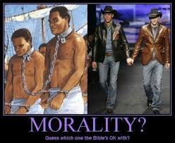 Homosexual Meme - the biblical dilemma of denouncing slavery yet opposing
