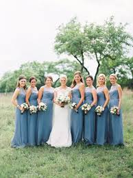 slate blue bridesmaid dresses classic wedding by loft photography dusty blue