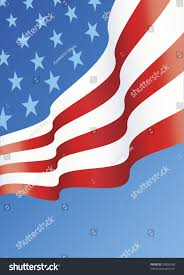 Hanging American Flag Vertically Vertical Design American Flag Layout Copy Stock Vector 53804398