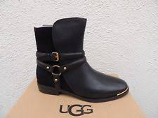 size 12 womens ankle boots australia ugg australia kelby black leather harness ankle boots booties
