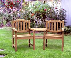 Outdoor Jack And Jill Chair by Ascot Teak Garden Companion Seat Bench Garden Tete A Tete Bench