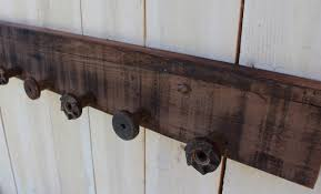 reclaimed wood coat rack rustic shabby cottage wall