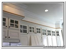 How To Install Kitchen Cabinets Crown Molding Crown Moulding Above Kitchen Cabinets Kitchen Cabinet Crown