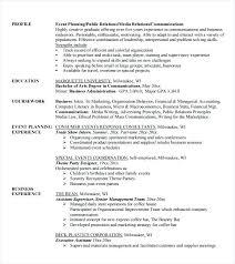 event coordinator resume planner resume sle event planner resume sle event