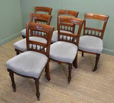 set of six victorian walnut antique dining chairs antiques world