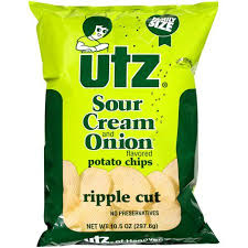ripples chips utz potato chips ripples sour 9 5 oz walmart