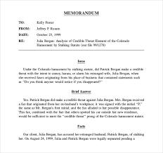 example legal memorandum best template u0026 design images