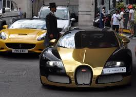 gold and black bugatti ramadan rush hour u0027 as supercars hit london streets for eid al