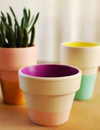 color block terra cotta pots diy u2013 a beautiful mess