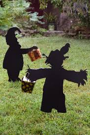 garden silhouettes for halloween decorating hgtv