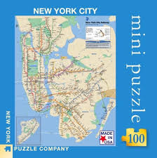 Mta Subway Map Nyc by Mta Subway Mini Map U2013 New York Puzzle Company