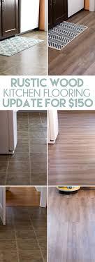 cheap kitchen flooring ideas inexpensive rustic wood kitchen floors