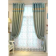 green floral jacquard embossed chenille custom luxury curtains