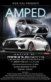 lexus service in fremont norcal presents amped at magnussen u0027s lexus of fremont september
