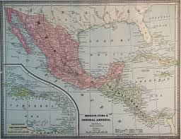 Map Of Sw Usa by Map Of Mexico And Cuba 1886