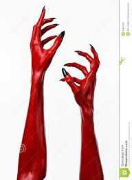 free halloween images on white background red devil u0027s hands with black nails red hands of satan halloween