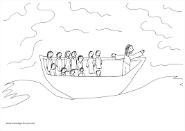 coloring page jesus calms the storm for creativemove me