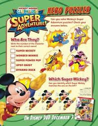 mickey mouse clubhouse super adventure activity sheets kid u0027s