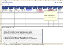 Excel Templates Free Free Excel Crm Template For Small Business