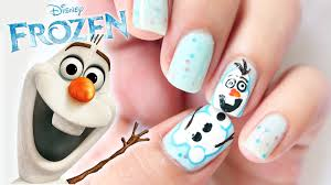 disney frozen olaf inspired nails youtube