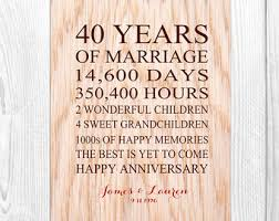 40 year wedding anniversary gift 40 year wedding anniversary gift ideas for parents lading for