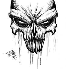skull sketches drawings mildlyintoxicatedart skull sketch drawing