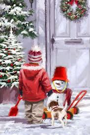 268 best winter art images on pinterest christmas scenes