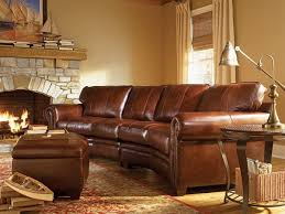 Curved Sectional Sofa Leather Rustic Leather Living Room Furniture Using Curved Sectional Sofa